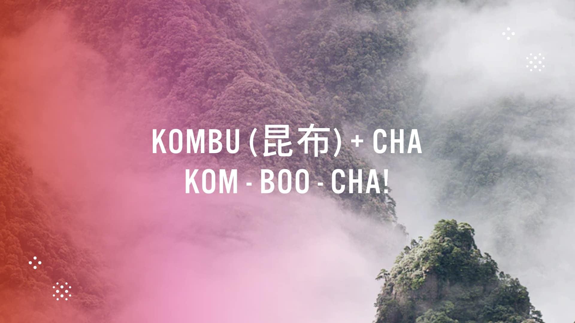 phonetic pronunciation of the word kombucha